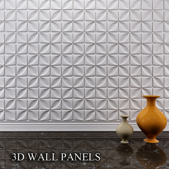 3d wall panels by ah elsisi 3docean for 3d wall covering