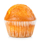 Delicious muffin close-up isolated on white background. - PhotoDune Item for Sale