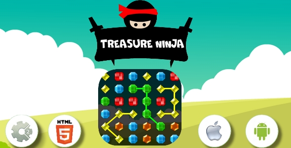 Treasure ninja-HTML5 Game +Construct 2 - CAPX - CodeCanyon Item for Sale