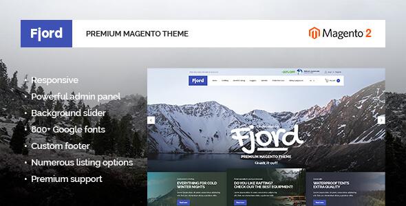 Fjord – Sport Magento 2 Theme