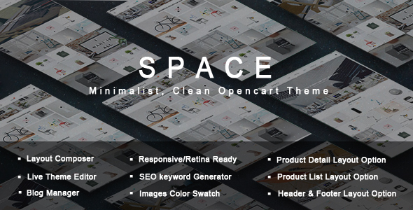 Space – Minimalist, Clean Opencart Theme