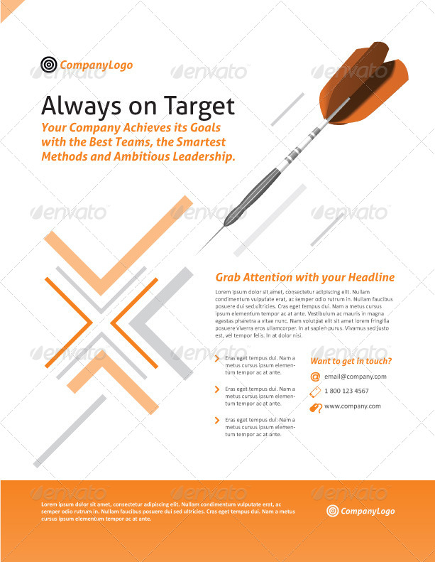 On Target Corporate Flyer By Ramijames Graphicriver