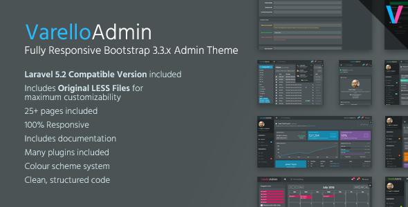 VarelloAdmin - Responsive Dark Bootstrap Admin Template