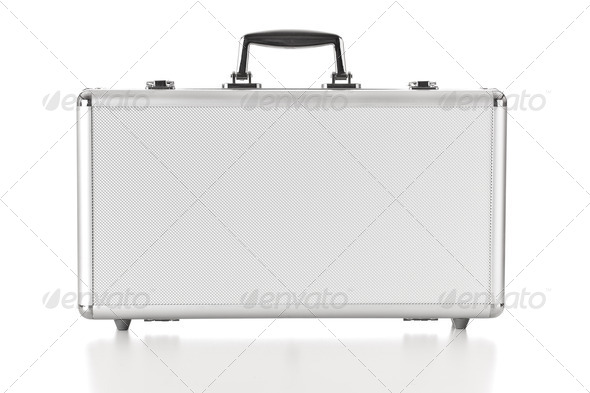 Security aluminum case - Stock Photo - Images