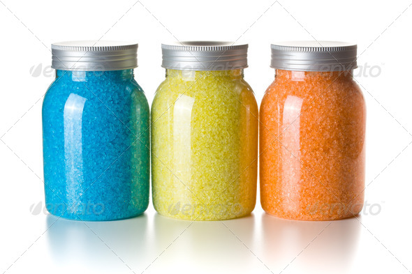 aromatic bath sea salt - Stock Photo - Images