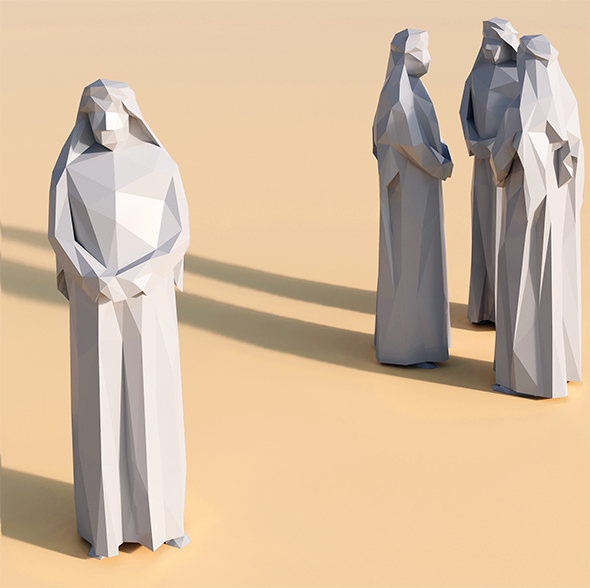 Lowpoly Arab 001 - 3DOcean Item for Sale