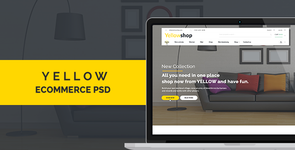 Yellow-Multi-Purpose eCommerce PSD