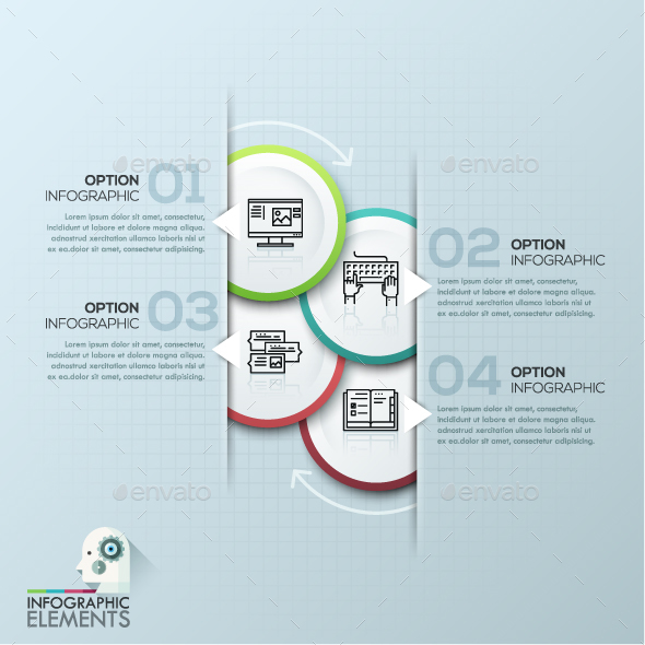Modern Infographic Circle Template