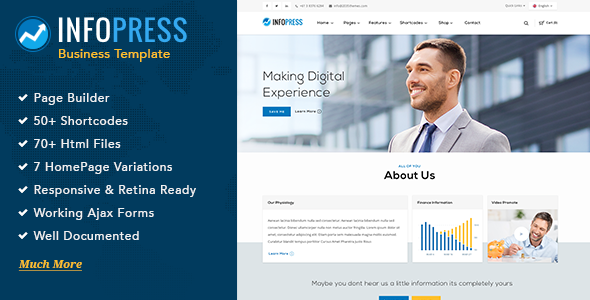 Infopress – Multi-Purpose Business Template with Page Builder