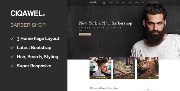 Cigawel - Barbershop WordPress Theme - Health & Beauty Retail