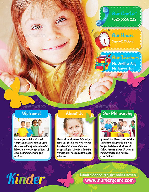 Childcare Nursery Flyer By Bumiputra Graphicriver