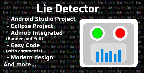 Lie Detector Prank + Admob Ads (Android Studio + Eclipse) - CodeCanyon Item for Sale