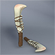 Low Poly Jaw Bone Knife - Maya, mb, OBJ, FBX + Textures - 3DOcean Item for Sale