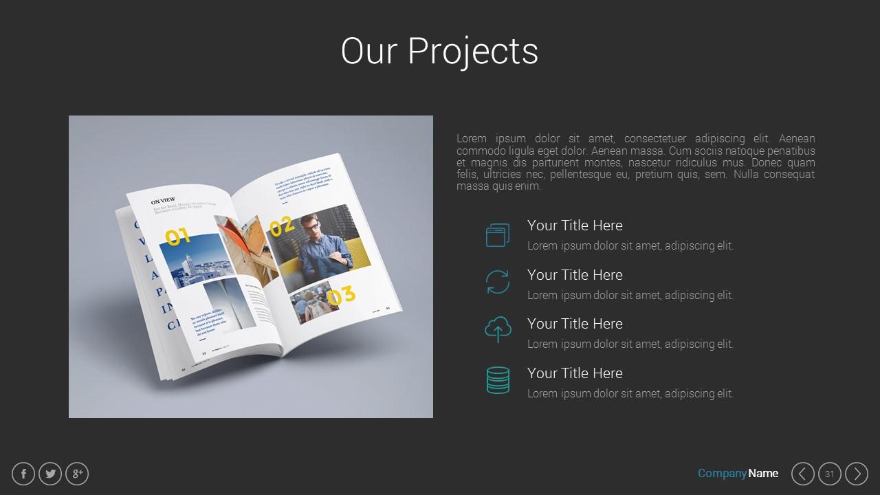 Pitch Deck Google Slides Presentation Template by Spriteit