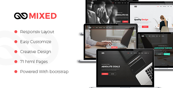 MIXED – Multipurpose HTML5 Template