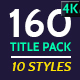 160 Titles Pack Different Styles - VideoHive Item for Sale
