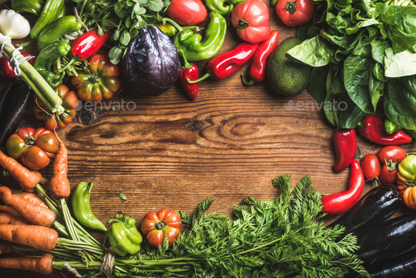 Fresh raw vegetable ingredients - Stock Photo - Images