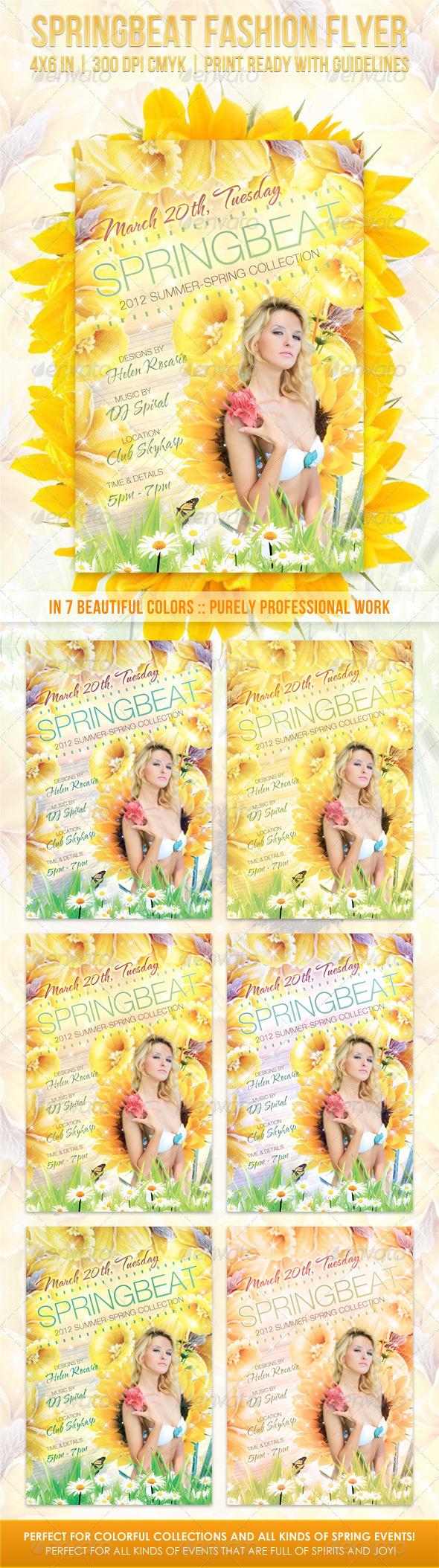 Springbeat Spring Fashion Flyer - Flyers Print Templates