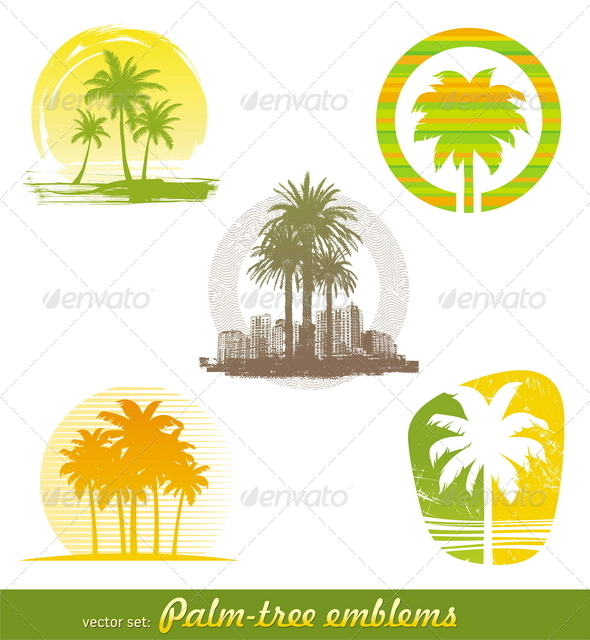 Palm Tree Emblems & Labels - Nature Conceptual
