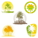 Palm Tree Emblems & Labels - GraphicRiver Item for Sale