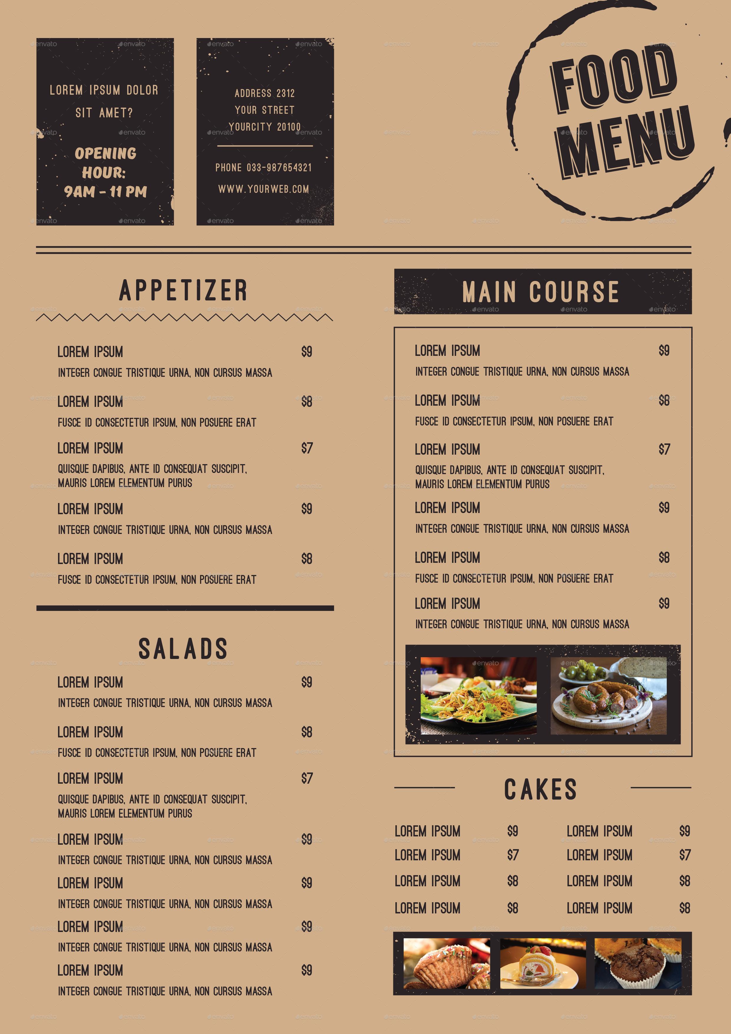 food menu by infinite78910 graphicriver