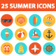 Summer time icon set - GraphicRiver Item for Sale
