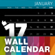 Wall 12 Pages Calendar 2017 with Big Size Photo Background — A3 and Tabloid - GraphicRiver Item for Sale