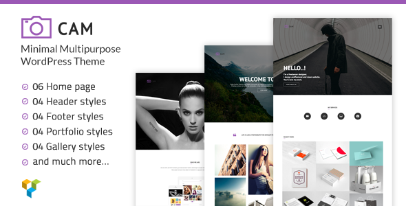 CAM | Minimal MultiPurpose WordPress Theme