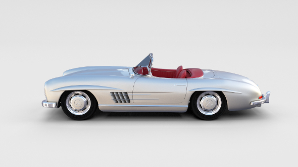 Fully Modelled Mercedes 300SL Roadster rev - 3DOcean Item for Sale