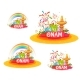 Onam Holiday Sale Banner Set With Ribbon. Vector - GraphicRiver Item for Sale