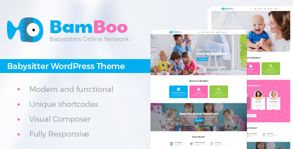 BamBoo - Babysitters Online Network WP Theme - Children Retail
