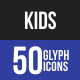 Kids Glyph Icons