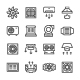 Set Line Icons of Ventilation - GraphicRiver Item for Sale