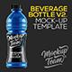 Power Beverage Bottle Mock-up v2 - GraphicRiver Item for Sale