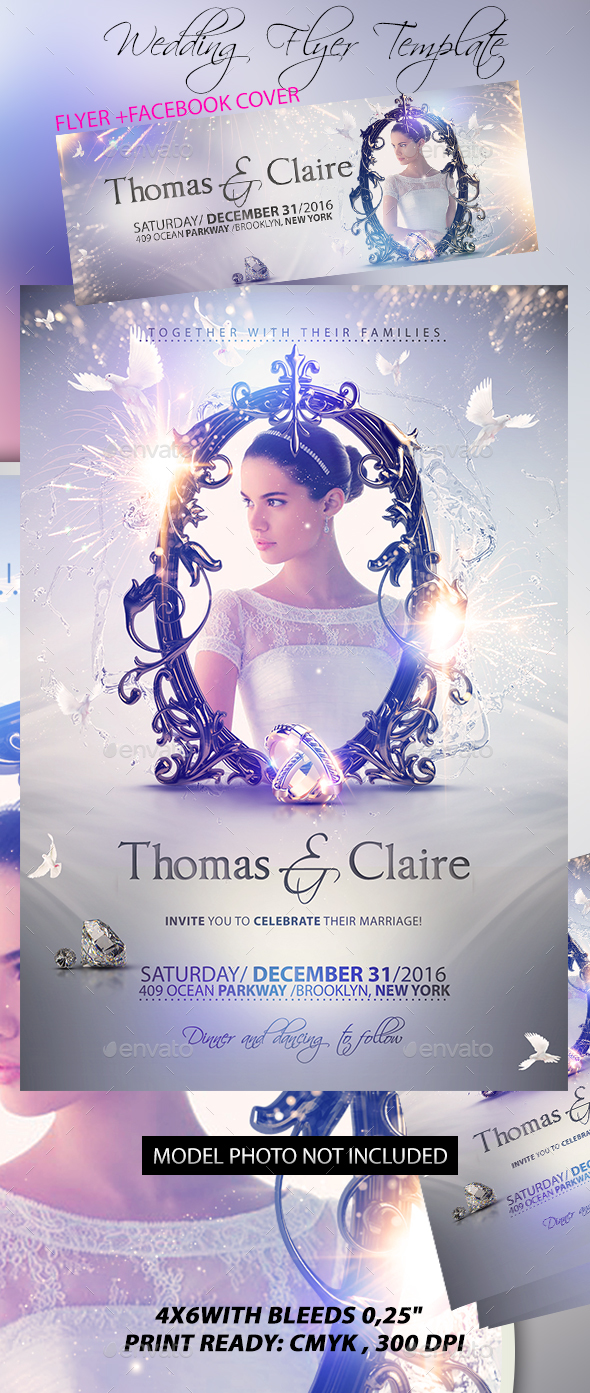 Wedding Flyer Template By Stormclub Graphicriver