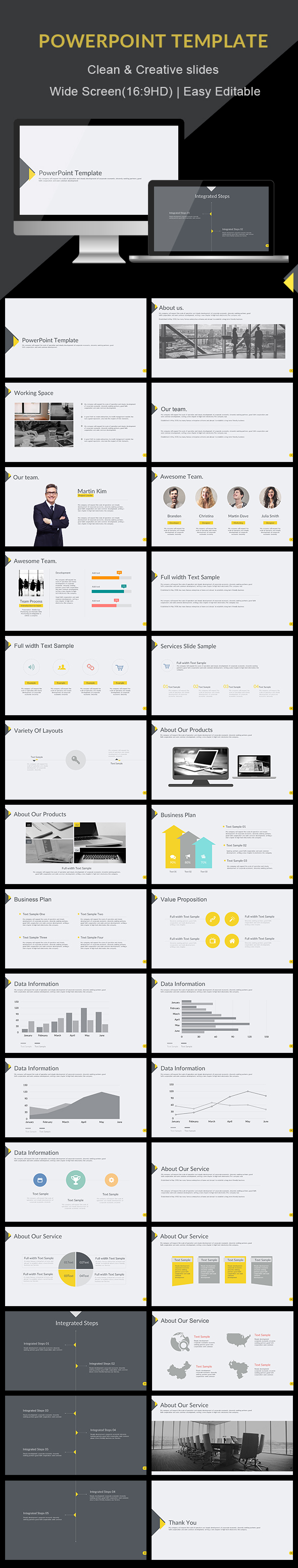 Clean - PowerPoint Presentation Template