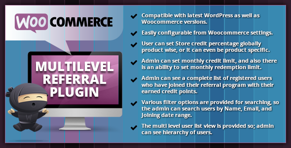 WooCommerce Multilevel Referral Plugin