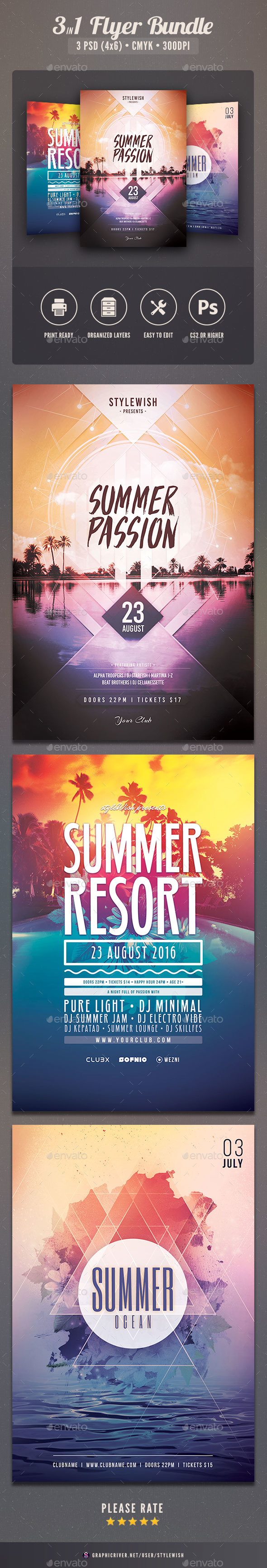 Summer Flyer Bundle Vol.15