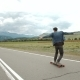 Hipster Man Longboarding Extremely Action In Highway. - VideoHive Item for Sale