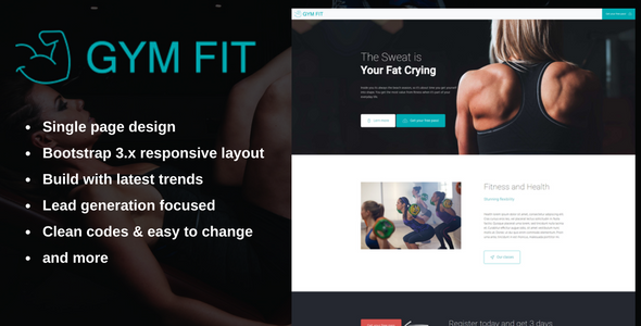 GYM FIT – Fitness landing page