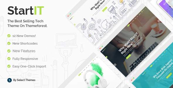 Startit - A Fresh Startup Business Theme - Technology WordPress