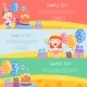 Happy Birthday Banners Vector Illustration - GraphicRiver Item for Sale