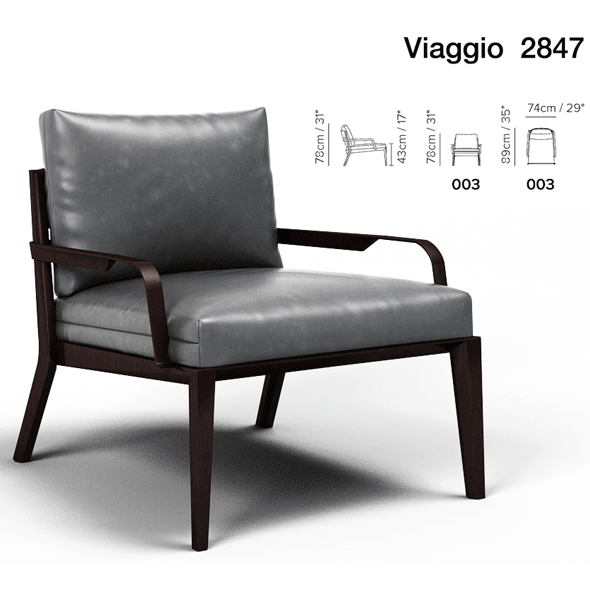 Armchair Viaggio Natuzzi - 3DOcean Item for Sale