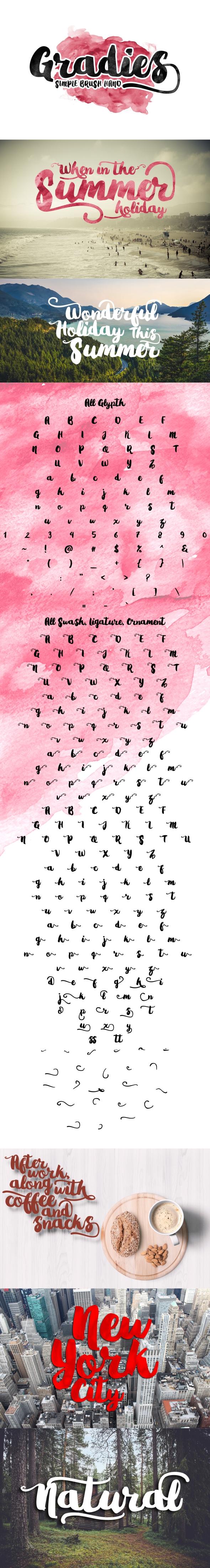 Gradies Brush - Script Fonts