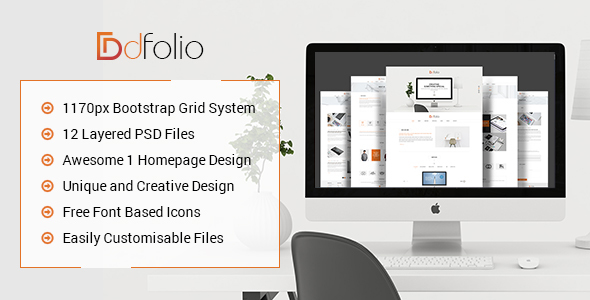 dFolio – Multi Purpose PSD Template