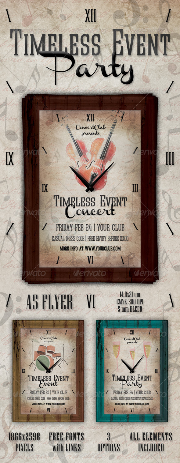 Timeless Pieces Event Flyer - Events Flyers