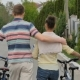Young People Are Leading The Bikes On The Street. - VideoHive Item for Sale