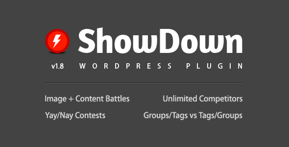 ShowDown WordPress Plugin - CodeCanyon Item for Sale