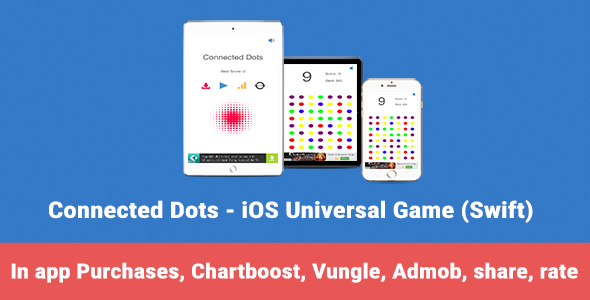 Connected Dots - iOS Universal Game (Swift) - CodeCanyon Item for Sale