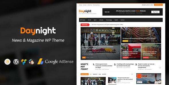 Daynight Magazine - News Magazine Theme - News / Editorial Blog / Magazine